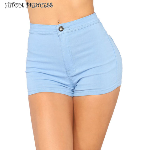HITOM PRINCESS Summer Skinny Women Shorts Cotton High Waist Denim Shorts Stretch Jeans Shorts For Women Vintage Short Femme - Lord's Outdoors