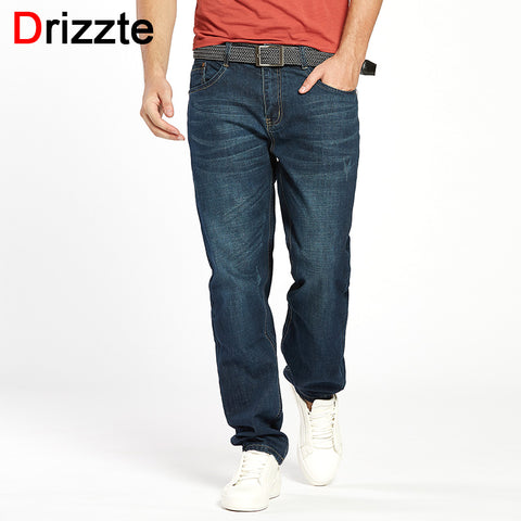 Drizzte Men Jeans Plus Size 28 to 46 Trendy Taper Stretch Relax Jeans Blue Denim Jean Trousers Pants - Lord's Outdoors