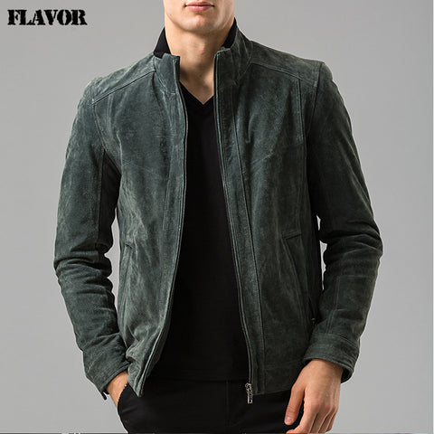 Men's real leather jacket motorcycle coat bomber jackets Pigskin Genuine Leather jacket male coat - Lord's Outdoors