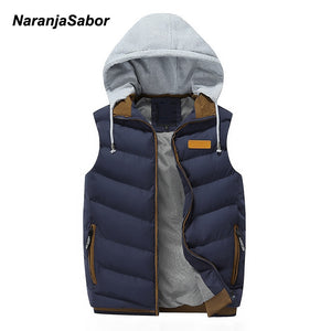 NaranjaSabor 2019 Men's Hoodies Thick Vest Down Coats Men Casual Winter Jacket Male Slim Waistcoats Outwear Men's Brand Clothing - Lord's Outdoors