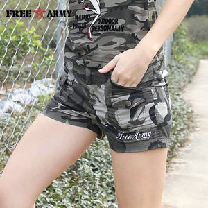 Shorts Jeans New Arrival Cotton Shorts Women 2017 Summer New Army Camouflage Multi-Pockets Cargo Trousers Short  GK-9607B - Lord's Outdoors