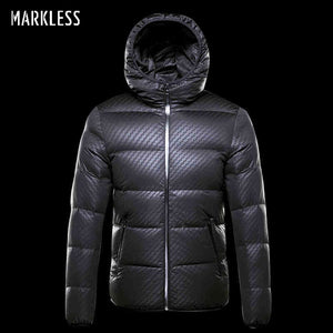 Markless Winter Seamless Down Jacket Brand Clothing Thick 90% White Duck Down Windproof Warm Coat Hooded Parka for Men and Women - Lord's Outdoors