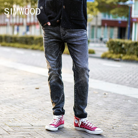 SIMWOOD 2019 Spring  New Scratched Jeans Men Classic Casual Jeans Denim Trousers Male Slim Fit Plus Size Brand Clothing NC017016 - Lord's Outdoors