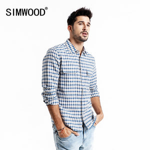 SIMWOOD Casual Shirt Men Brand Linen 2019 Spring Fashion Streetwear Long Sleeve Plaid Shirts Male Camisa Masculina 190174 - Lord's Outdoors