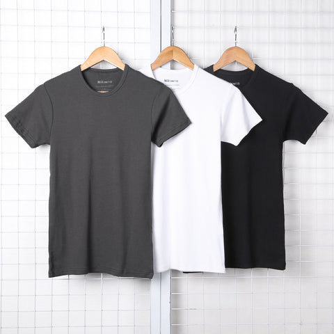Summer Men's O Neck Short Sleeve T-shirt Cotton Casual European Style Solid New Brand Design Men Slim Fitness Hot Sale Top Tees - Lord's Outdoors