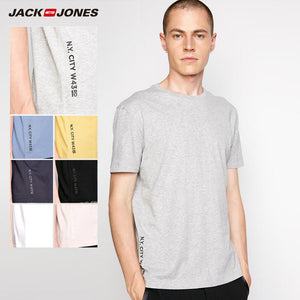 JackJones Men's Cotton Spandex Elastic Fabric Crew Neck T-Shirt Solid Color T shirt 2019 New Top Tshirt for Men |218201546 - Lord's Outdoors