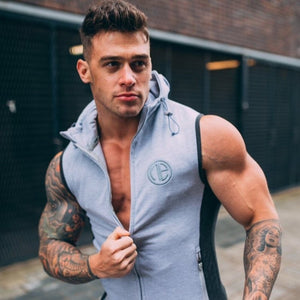 New Mens Gyms Hoodie Singlets Sweatshirts sleeveless hoodies printing Bodybuilding Fitness male waistcoat Shirts Casual hoodies - Lord's Outdoors