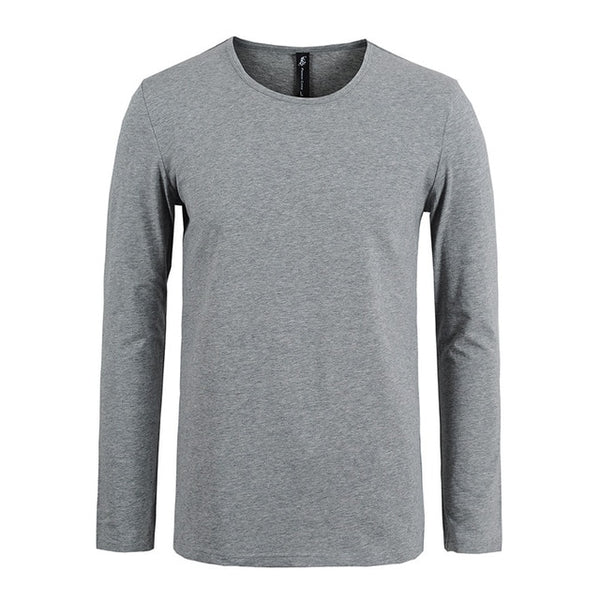 Pioneer Camp New Men's Classic Solid Long Sleeve High-Quality Brand Clothing Casual Slim Fit  Stretch - Lord's Outdoors