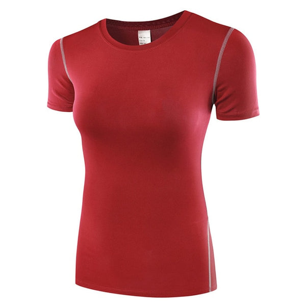 Binand Profession Base Layer Short Sleeve Sports Shirt Quick Dry High Elastic Fitness Exercises Compression Running Yoga Tops - Lord's Outdoors
