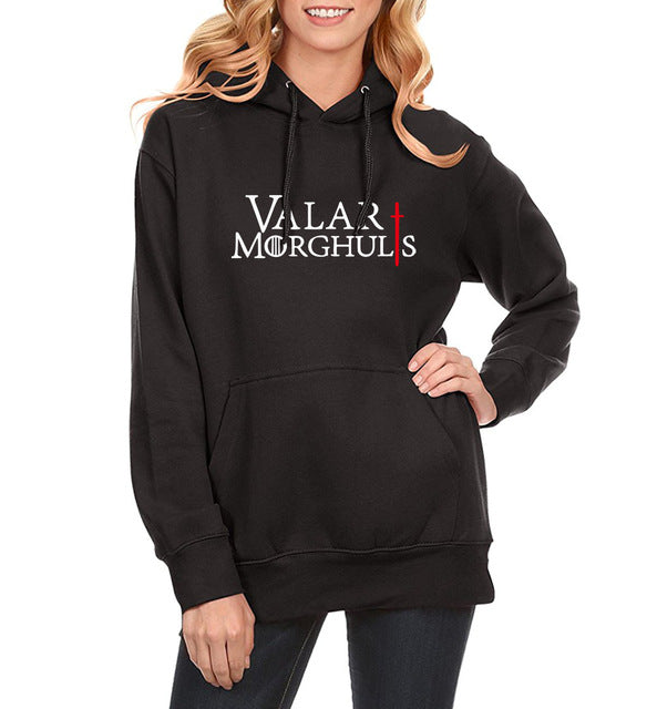 VALAR MORGHULIS KHALESSI Fashion Print Hoody For Women Fleece Winter Sweatshirt Spring Hoodies GAMES OF THRONES Harajuku - Lord's Outdoors