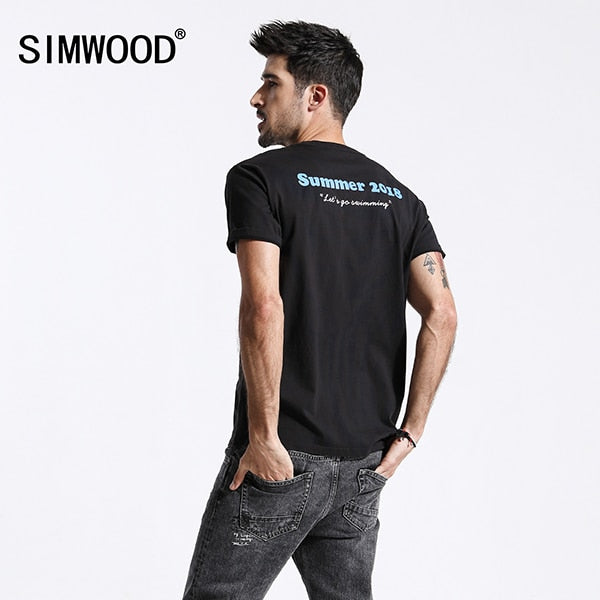 Dressin Mens Summer Casual Slim Short Sleeve Letter Pocket Shirt Top Blouse