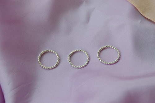 Bead Ring - sterling silver or goldfill