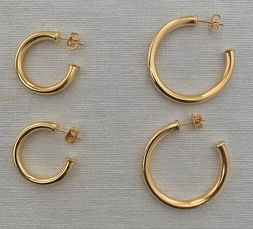 Chunky hoops - goldfill