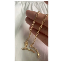 Long link paperclip chain necklace
