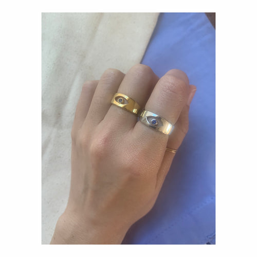 Modernist eye ring