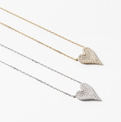 Pavé Heart Necklace