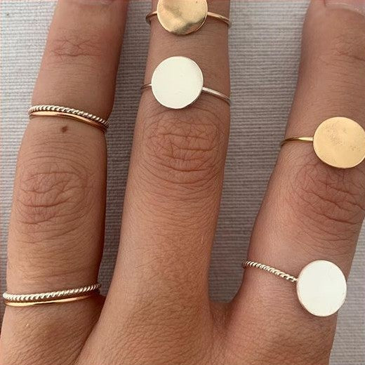 Dot Ring (Medium) - sterling silver or goldfill
