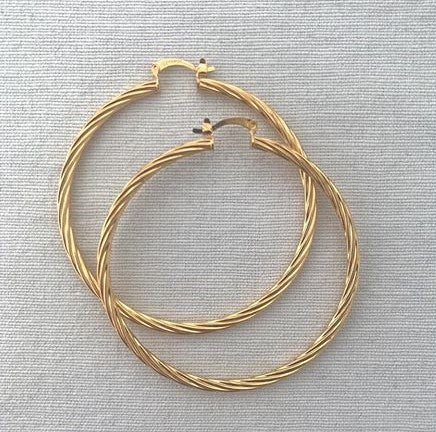 Twist Hoops - 14k goldfill