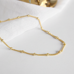 Dainty Beaded Chain Choker