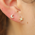 Gold Asymmetric Stud Earrings