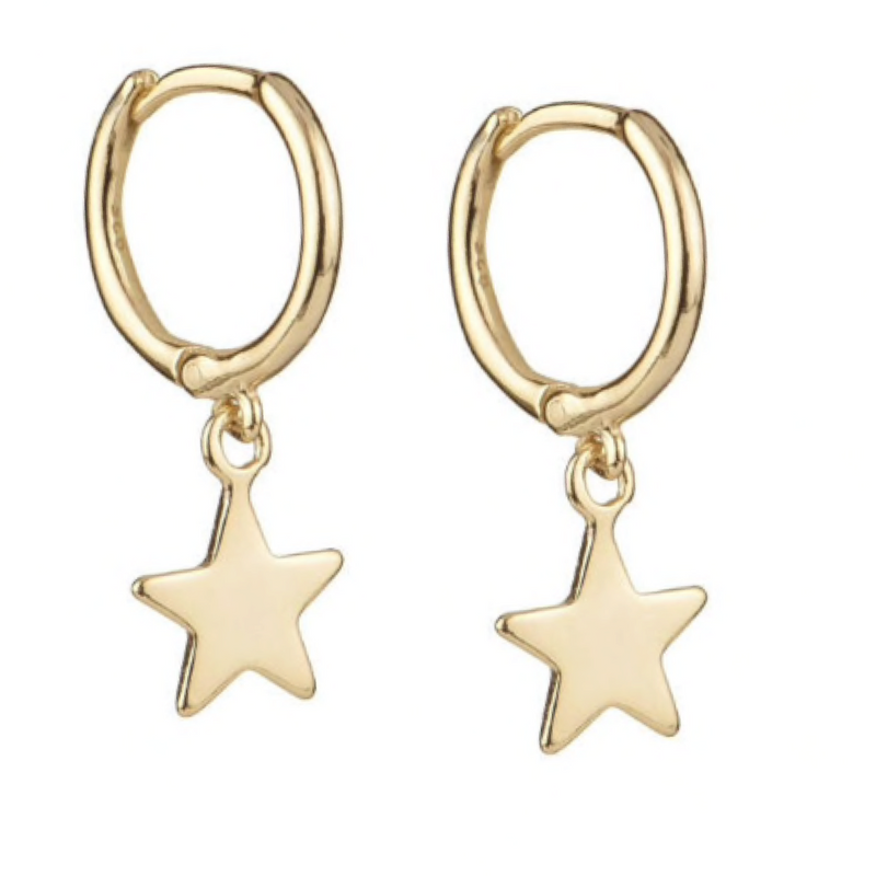 StarGirl Gold Solid Huggie Earrings