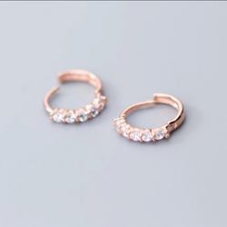 Rose Gold Zirconia Huggies