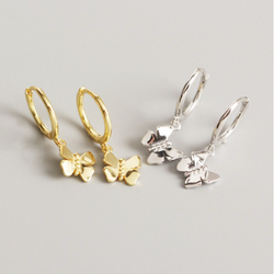Silver Atouria Butterfly Earrings