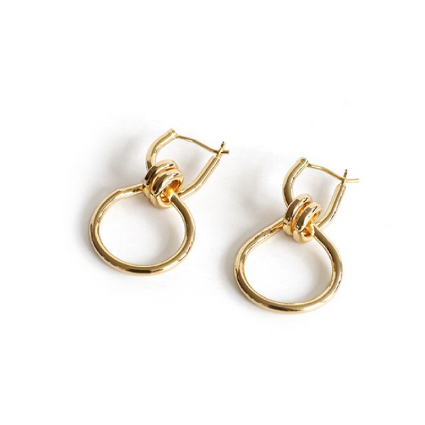 Gold Forgive Me Knot Earrings