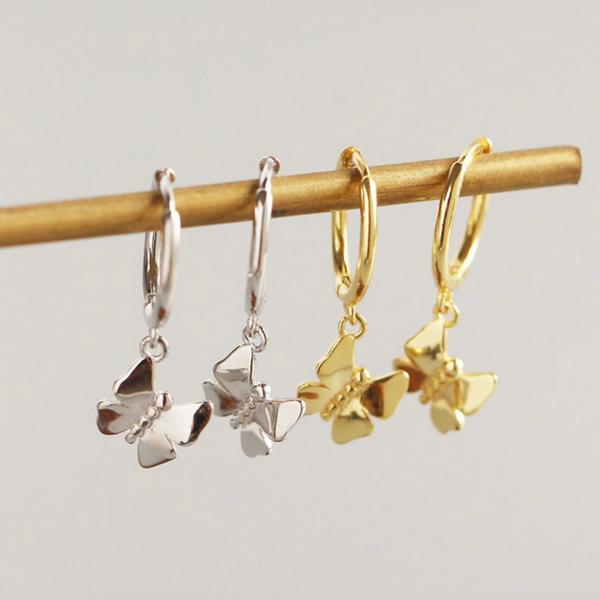 Gold Atouria Butterfly Earrings