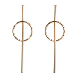 Jewellery Society Gold Geometric Drop Earring