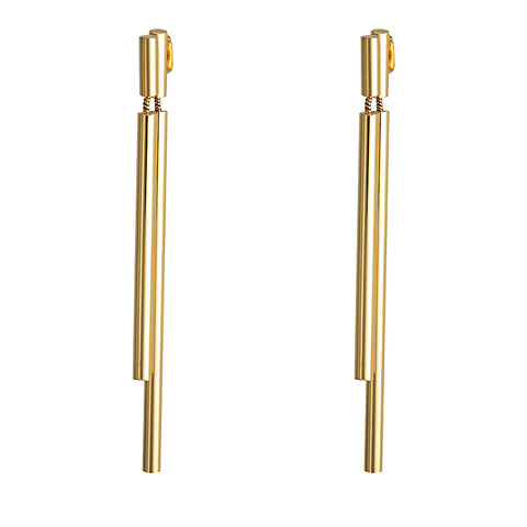 Double Drop Gold Earring