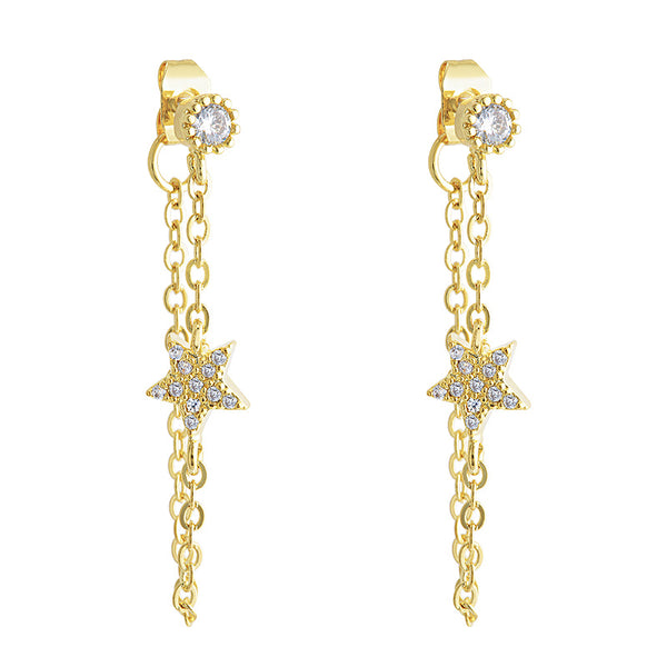 Star Girl  Altair Gold Earring