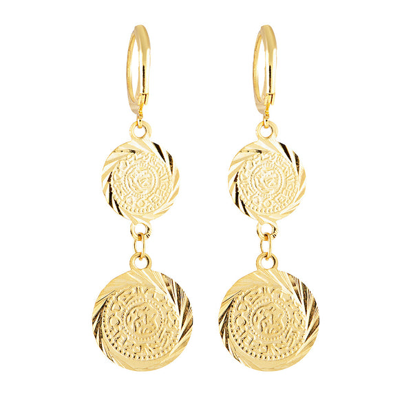 Mini Coin Drop Earring