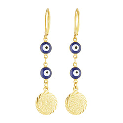 Watchful Eye Dark Blue Dangle Earring
