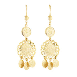 The Gold Coin Drop Earring