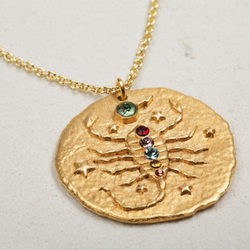 Gold Scorpio Zodiac Necklace
