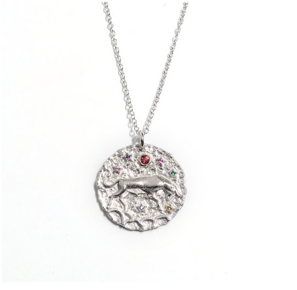 Silver Taurus Zodiac Necklace