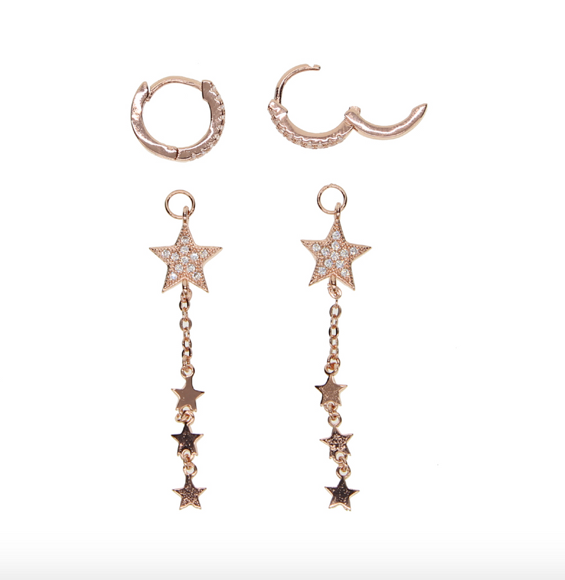 Supreme Rose Gold Star Earrings