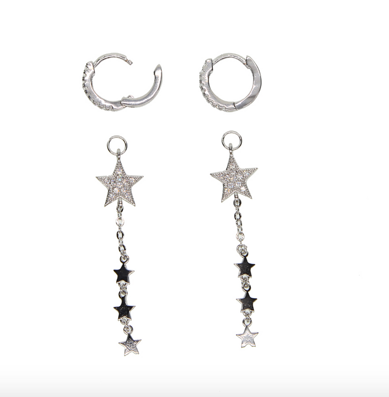 Supreme Platinum Star Earring