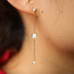 Platinum White Opal Dangle Earring