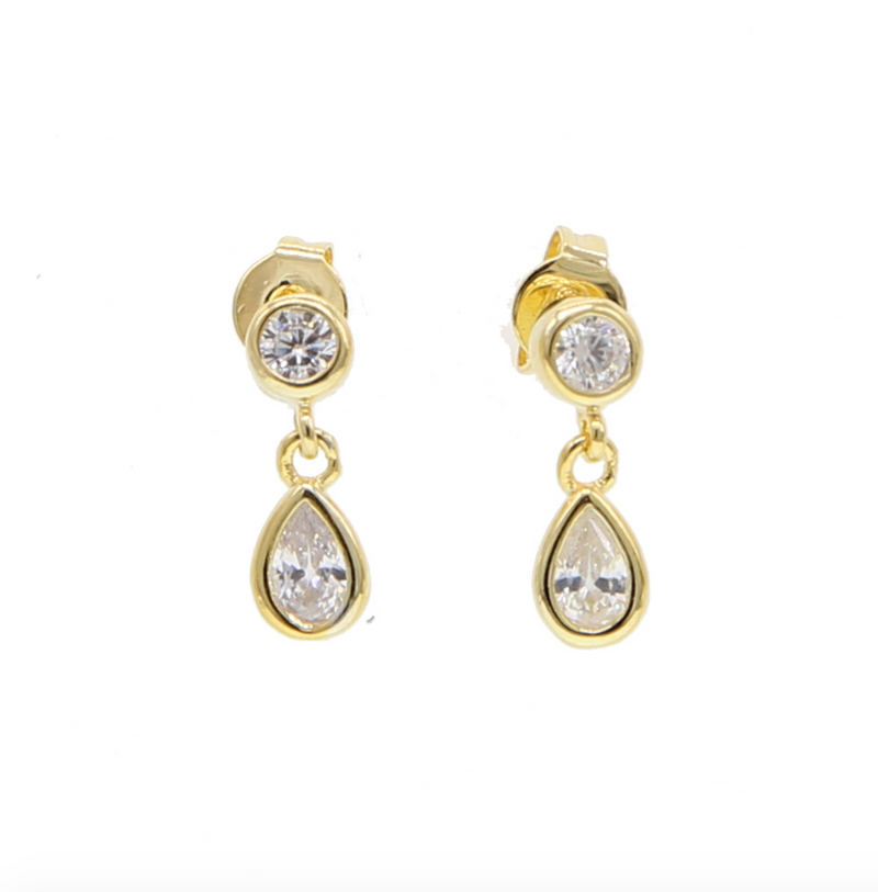 Gold Tear Drop Earring