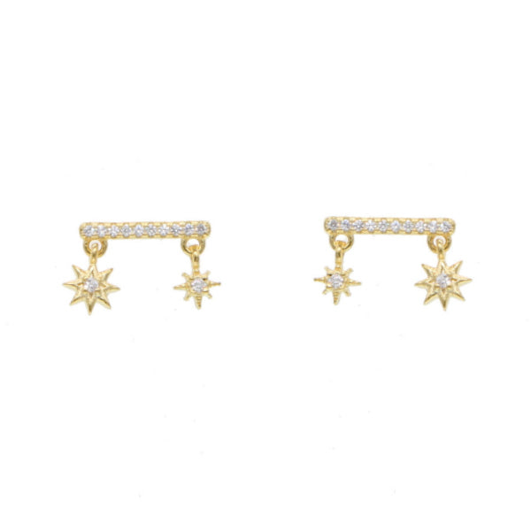 Gold Star Girl Ear Bar
