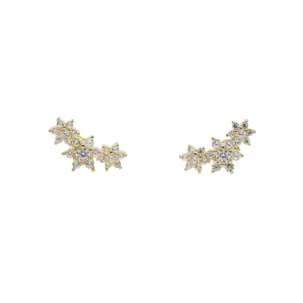 Gold Flora Star Stud Earring