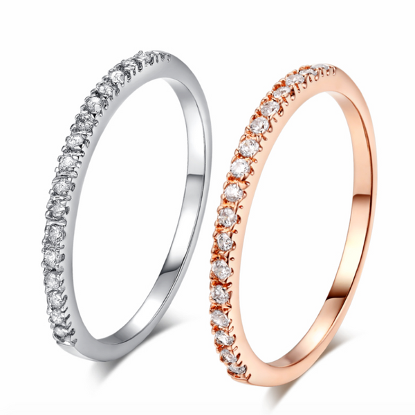 Semi Halo Zirconia Ring