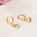 Gold Classic Shell Hoops