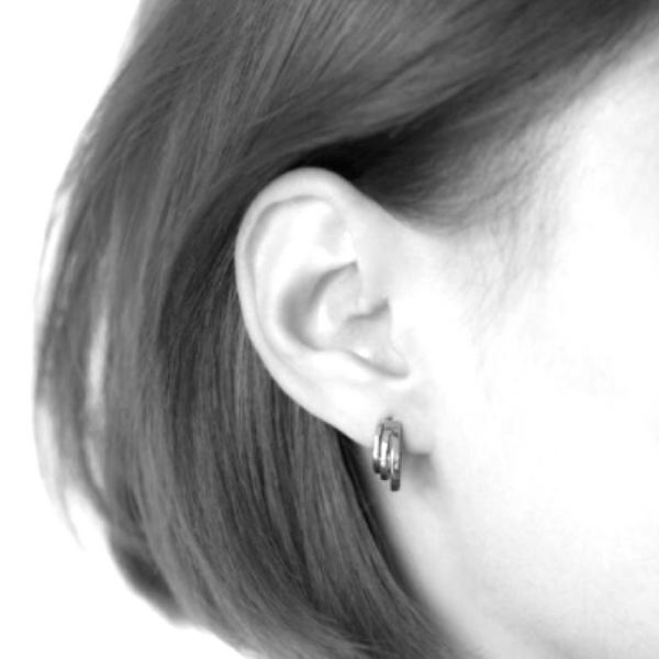 Silver Triple Threat Earrings