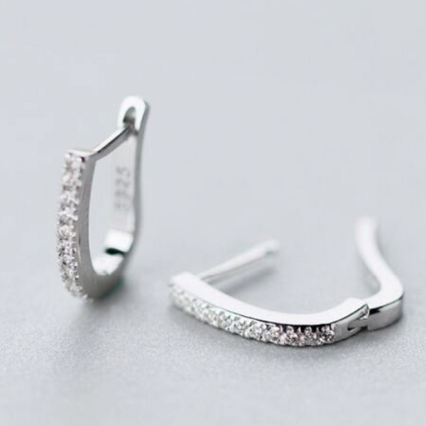 Platinum Nano Hoops