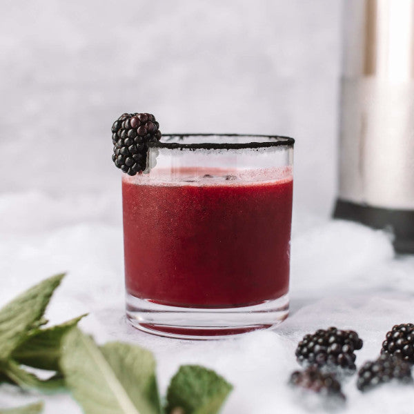 black magic mule cocktail with blackberries and mint