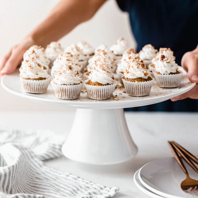 vegan Carrot Cake Cupcakes with Coconut Frosting