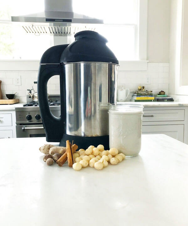 Gingerbread Macadamia Nut Milk